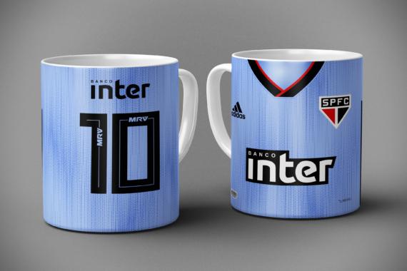 Mockup - Caneca Camisa São Paulo 2019-2020 - Terceiro Uniforme