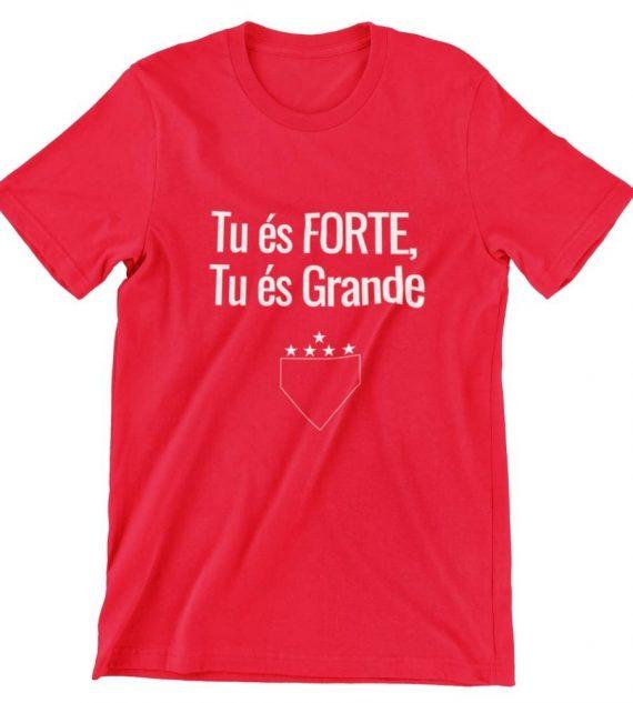 camiseta tu es forte tu es grande vermelha