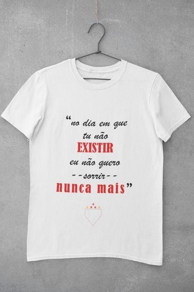 camiseta o dia que tu nao existir branco