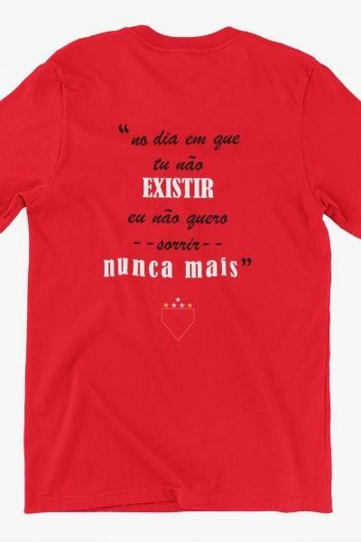camiseta o dia que tu nao existir vermelha